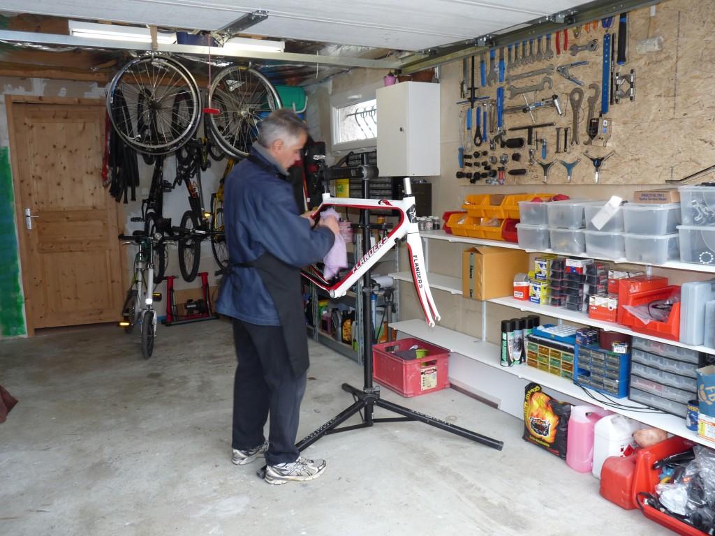 Jean-No dans son atelier
